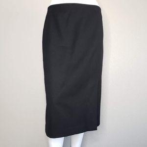 Talbots   Black Classic Wool Pencil Skirt Women's
